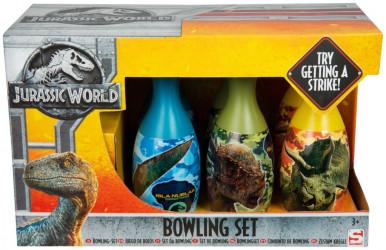 Plastové kuželky / Bowling Jurassic World / Jurský svět / 15 x 19 x 31 cm / veci z filmu