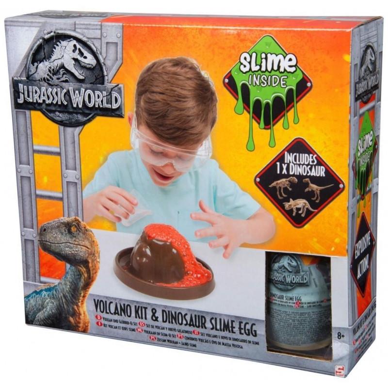 Pokusný vulkán, vejce s dinosaurem a slizem Jurassic World / Jurský svět