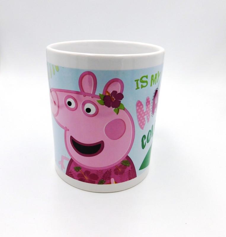 Keramický hrnek Prasátko Peppa / Peppa Pig Plameňák 315 ml