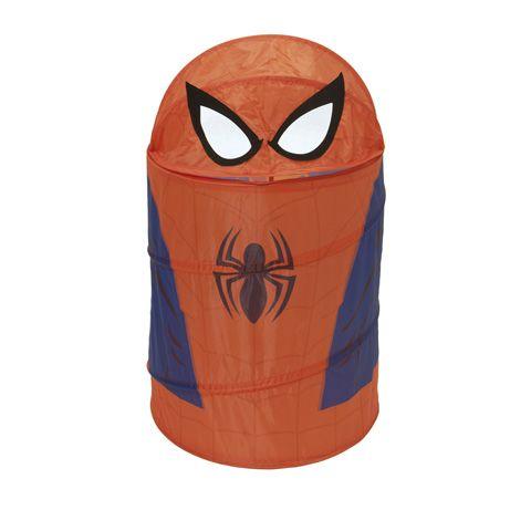 Skládací kulatý koš na hračky s pavoučím mužem Spidermanem 40 x 40 x 70 cm