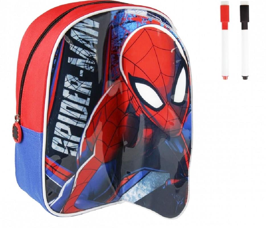Chlapecký batoh s přední plochou na kreslení na psaní Spiderman 25 x 31 x 10 cm