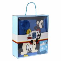 Dárkové balení Mickey Mouse modré /  fleecová deka, maska proti světlu na spaní, ponožky / věk 3/4 - 5/6 let  / veci z filmu