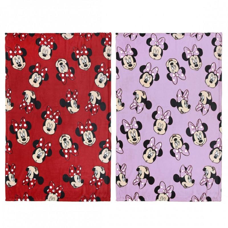 Hladká fleecová deka Minnie Mouse / 120 x 160 cm