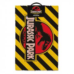 Dveřní rohožka Warning Jurassic Park / Jurský svět / 40 x  60 cm / veci z filmu