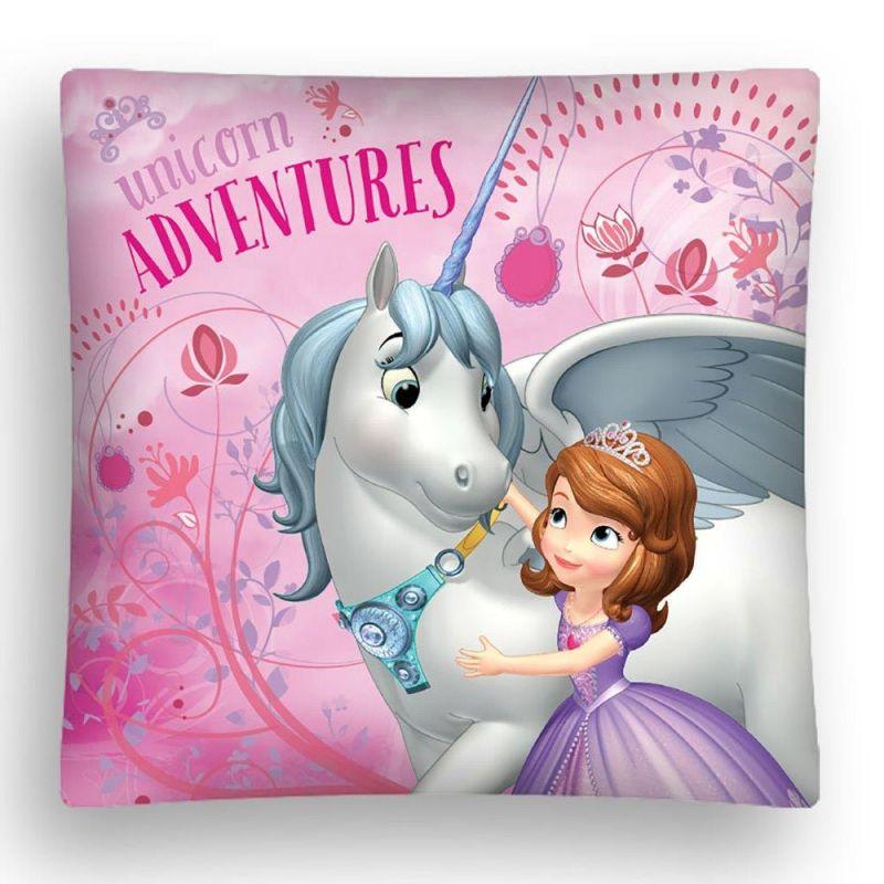 Dívčí povlak na polštář Sofia První / Sofia / Unicorn Adventures 40 x 40 cm