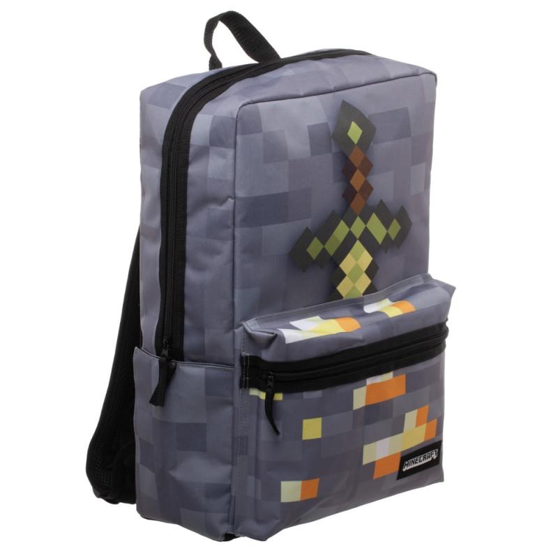 Chlapecký hranatý batoh Minecraft / Sword 48 x 34 x 14 cm / vecizfilmu