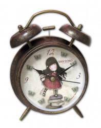 Dívčí kovový budík s motivem panenky Gorjuss / knihy / vecizfilmu