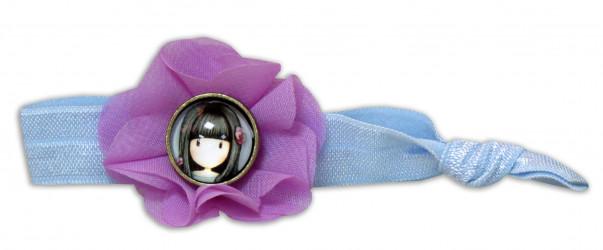 Dívčí elastická gumička do vlasů s motivem panenky Gorjuss / vecizfilmu