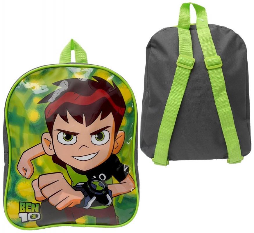 Malý chlapecký batůžek Ben 10 zelený / lesk 29 cm