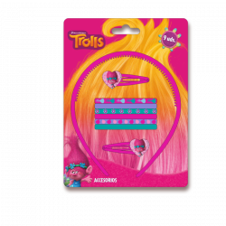 Čelenka / sponky a gumičky do vlasů Poppy / Trolls / Trollové / vecizfilmu