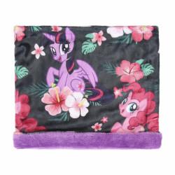 Dívčí hebký hřejivý nákrčník My Little Pony / černo - fialový / vecizfilmu