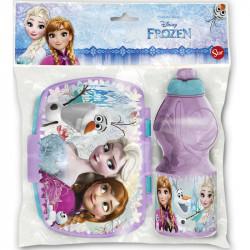 Svačinová sada Frozen / plastová sportovní láhev 400 ml, krabička na svačinu
