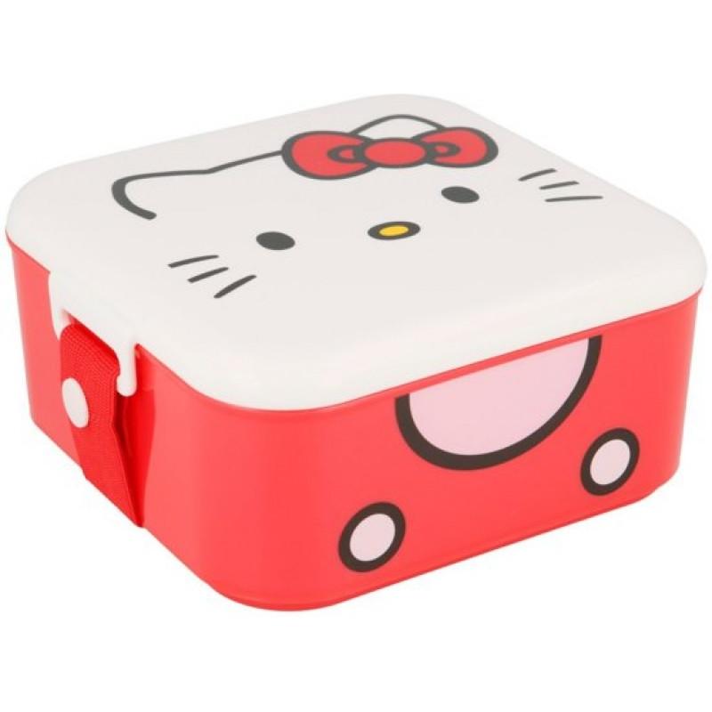 Krabička / Box na svačinu / Hello Kitty / 12 x 12 cm