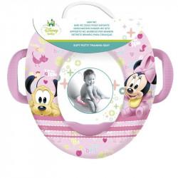 Dětské polstrované prkénko na WC s úchyty Minnie Mouse