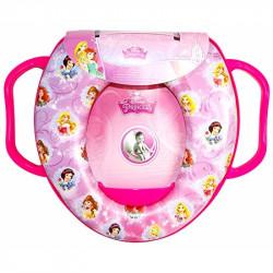 Dětské polstrované prkénko na WC s úchyty Princess / Princezny