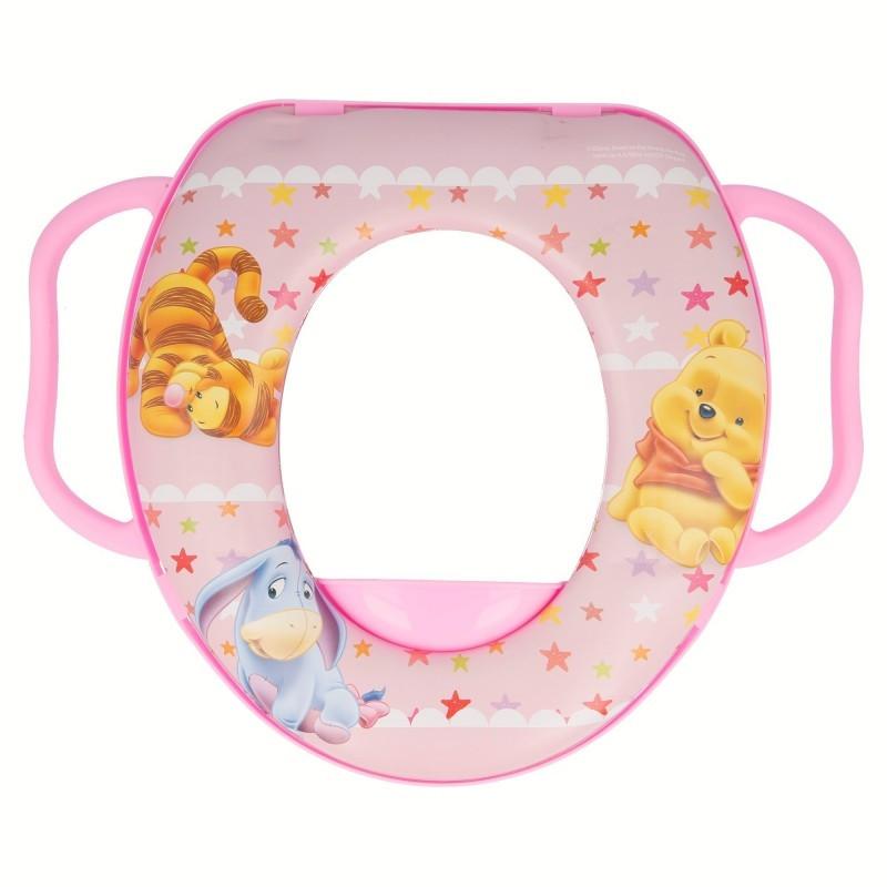 Dětské polstrované prkénko na WC s úchyty Medvídek Pú / Winnie the Pooh