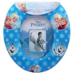 Dívčí polstrované prkénko na WC / Frozen / Ledové Království Anna Elsa Olaf