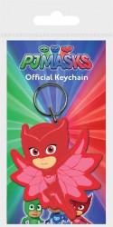 Gumový přívěšek na klíče PJ Masks / Pyžamasky / OWLETTE / Amaya