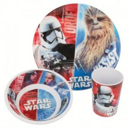 Sada plastového nádobí / talíř miska kelímek / Star Wars / Stormtrooper / Chewbacca / vecizfilmu