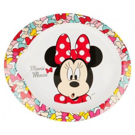 Dívčí plastový talíř Myška Minnie / Minnie Mouse Mašličky