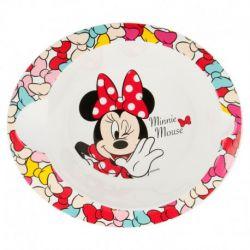 Dívčí plastová miska Myška Minnie / Minnie Mouse Mašličky