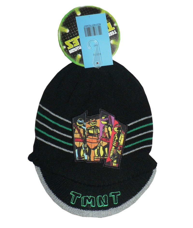 Zimní čepice s kšiltem Želvy Ninja