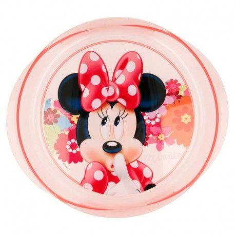 Dívčí plastový talíř Myška Minnie / Minnie Mouse Pink