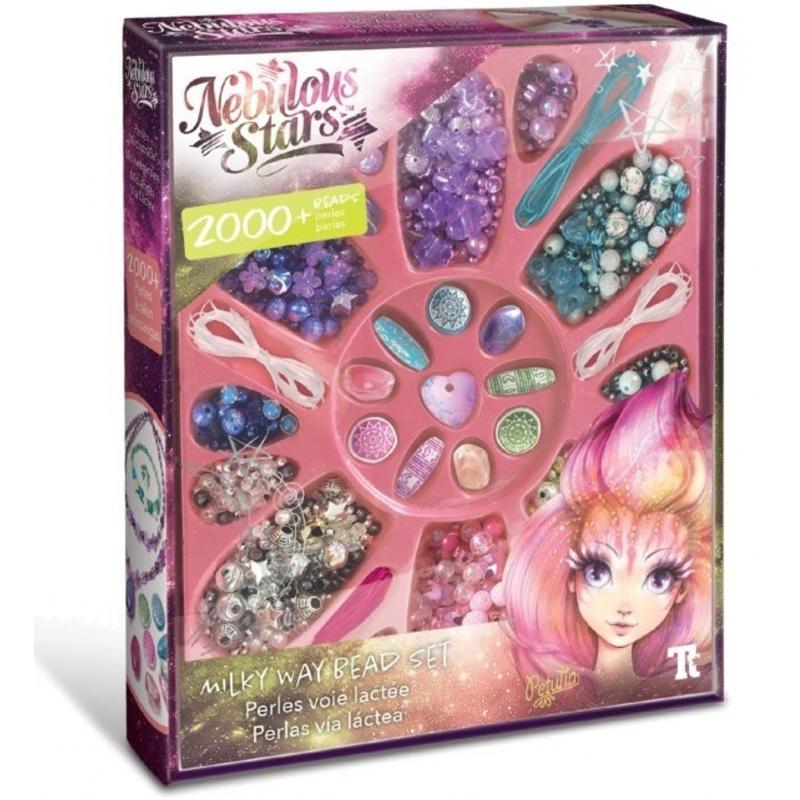 Kreativní sada 2000 ks dívčích korálků, kamínků, přívěšků Nebulous Stars / Nebeské Hvězdy / vecizfilmu