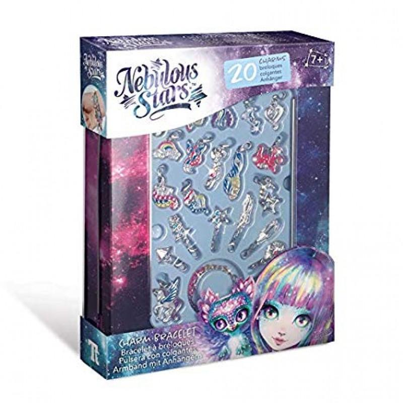 Dívčí kreativní náramek s 20 přívěšky dle vlastní fantazie Nebulous Stars / Nebeské Hvězdy / vecizfilmu