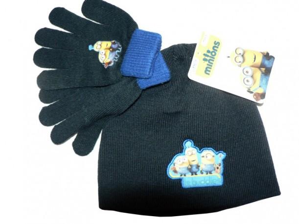 Sada čepice + rukavice Mimoni černý