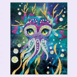 Kreativní sada Nebulous Stars / Nebeské Hvězdy / šablony obrázků / třpytky / kamínky / fixy / vecizfilmu