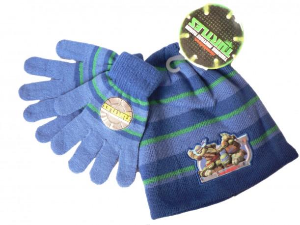 Sada čepice + rukavice Želvy Ninja modrá
