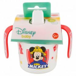 Cvičný hrnek s pítkem Mickey Mouse / 250 ml