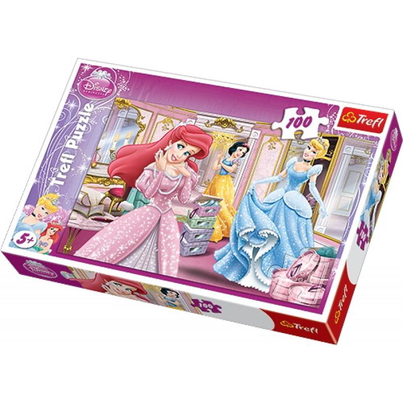 Dívčí puzzle Disney Princess / Princezny 100 dílků Popelka /Sněhurka / Ariel / vecizfilmu