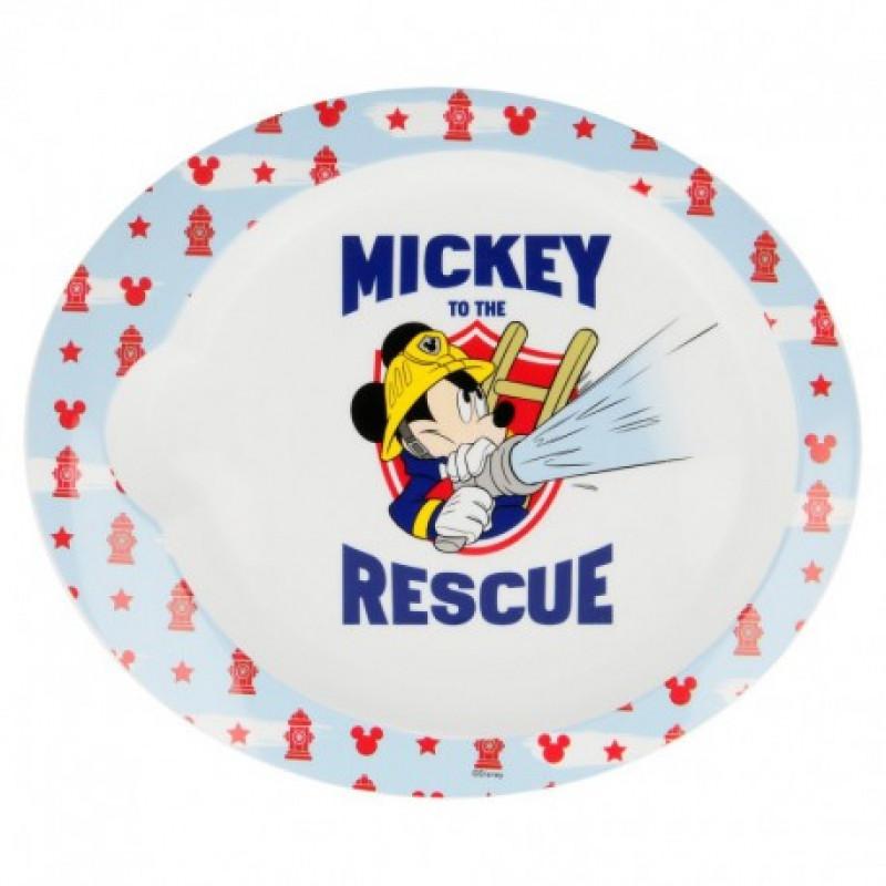 Plastový talíř Mickey Mouse Hasič / veci z filmu