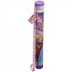 Tuba plná výtvarných potřeb / omalovánek, voskovek, nálepek a jiných kreativních potřeb Princezny / Princess 78 x 9 cm
