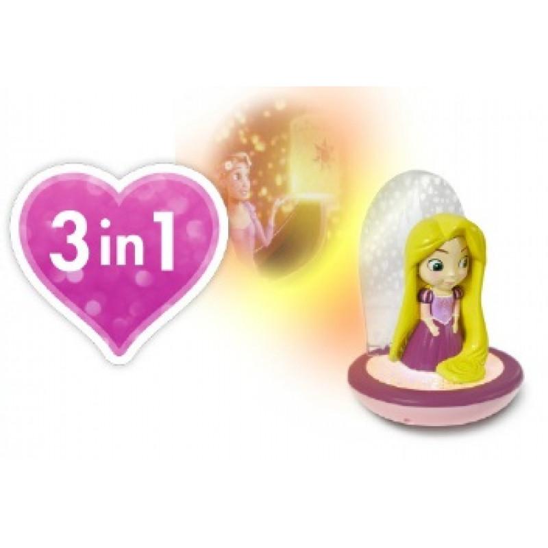 Magická noční lampička 3 v 1 Princess / Princezna / lampička / projektor měnící barvy