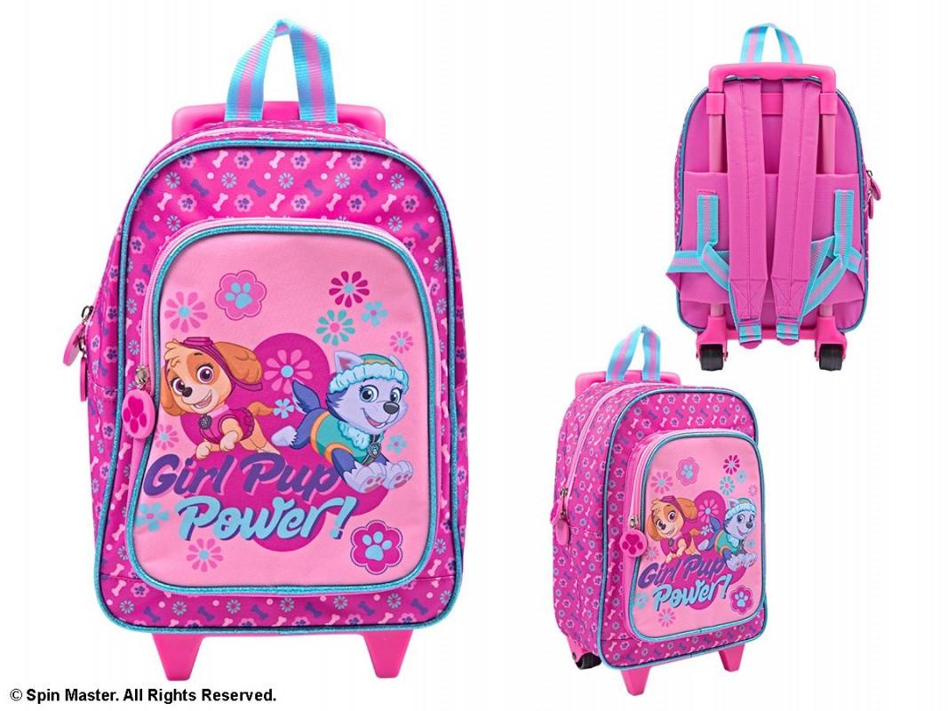 Dívčí batoh na kolečkách s vytahovací rukojetí Skye a Everest / Paw Patrol / Tlapková Patrola 31 x 24 x 13 cm / vecizfilmu