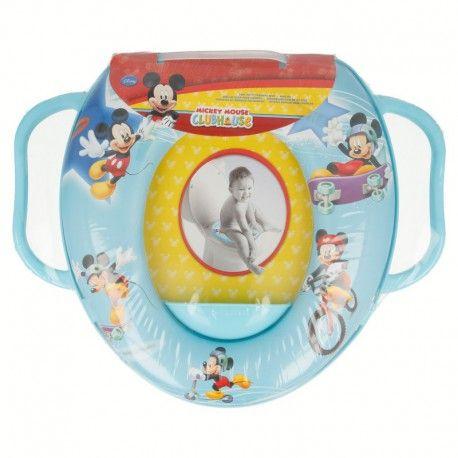 Dětské polstrované sedátko na WC s úchyty Myšák Mickey / Mickey Mouse Sport / vecizfilmu