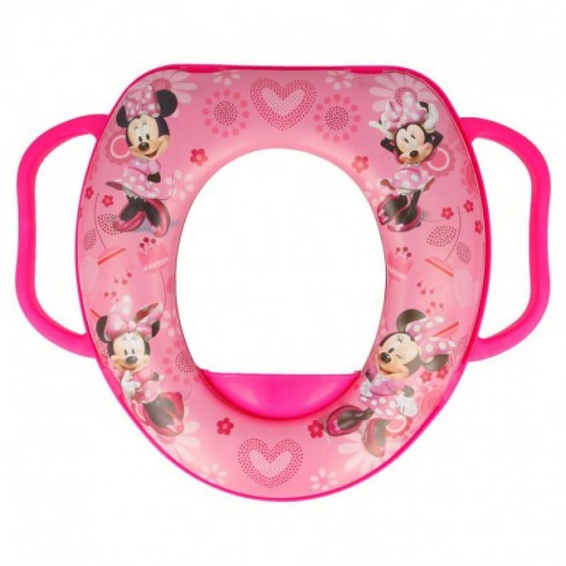 Dívčí polstrované sedátko na WC s úchyty Myška Minnie / Minnie Mouse Hearth / vecizfilmu