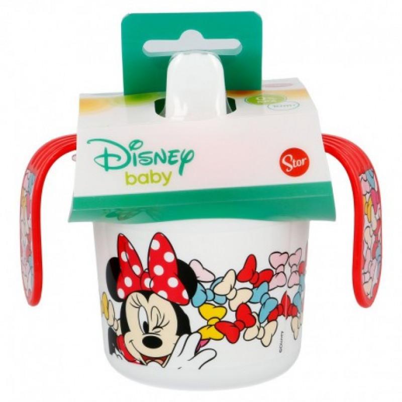 Cvičný hrnek s pítkem Myška Minnie / Minnie Mouse 250 ml / vecizfilmu
