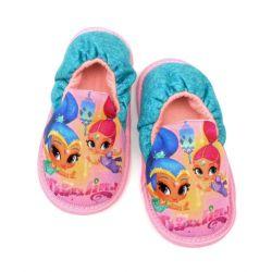 Dívčí domácí měkká obuv / papuče Shimmer and Shine / Třpyt a Lesk velikost 22 - 28