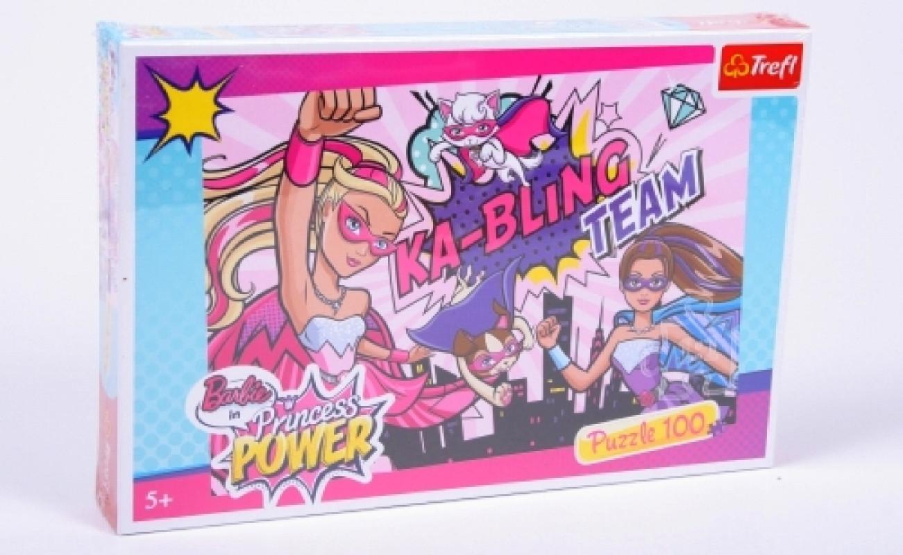 Dívčí puzzle s motivem panenky Barbie 100 dílků