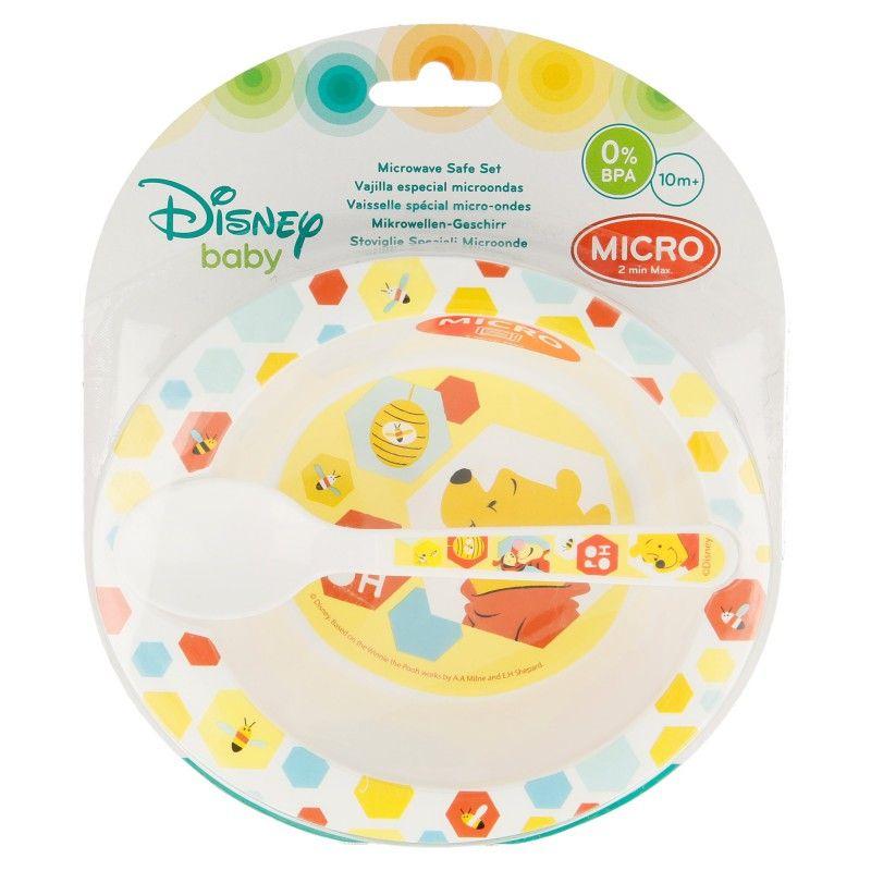 Sada plastového nádobí Medvídek Pú / Winnie the Pooh / miska a lžička