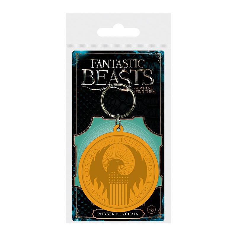 Gumový přívěšek na klíče Fantastická zvířata / Fantastic Beasts / MACUSA Logo
