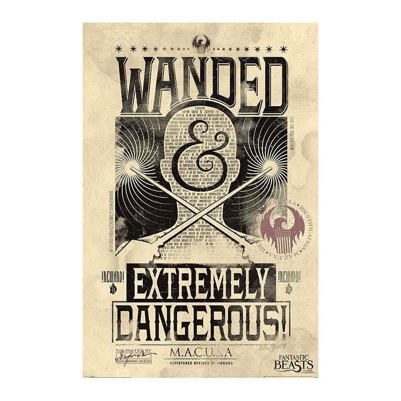 Plakát na stěnu Fantastická zvířata / Fantastic Beasts / Extremely Dangerous 61 x 91,5 cm