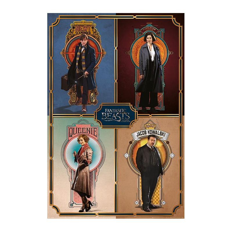 Plakát na stěnu Fantastická zvířata / Fantastic Beasts / Framed Cast 61 x 91,5 cm
