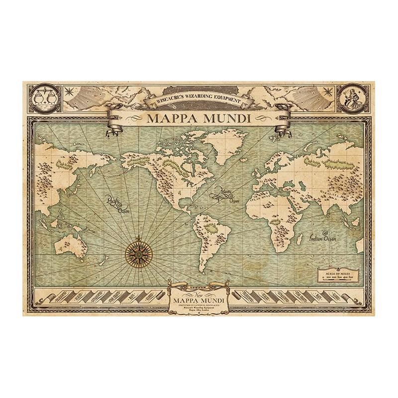 Plakát na stěnu Fantastická zvířata / Fantastic Beasts / Mappa Mundi 61 x 91,5 cm