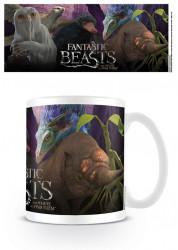 Keramický hrnek Fantastická zvířata / Fantastic Beasts / Escaped Beasts 315 ml / vecizfilmu