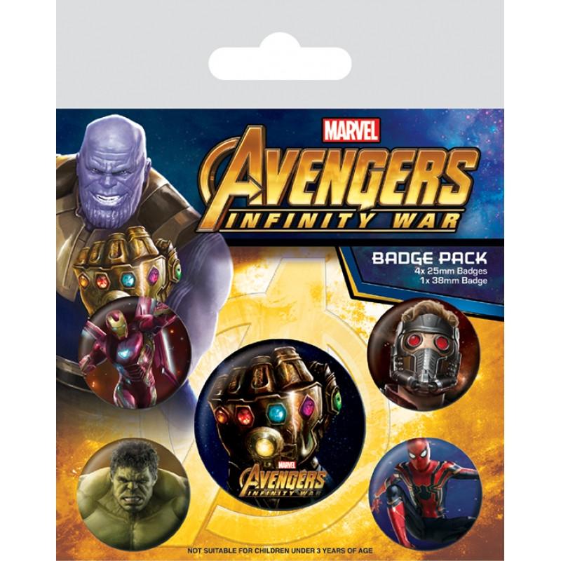 Odznaky / Placky Avengers: Infinity War / 10 x 12 cm